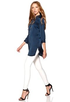 VERO MODA Perfect Long Shirt Black Iris Bubbleroom.se