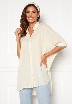 VERO MODA Poel Ss Oversize Shirt Birch Bubbleroom.se