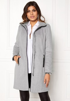 VERO MODA Prato Rich Wool Jacket Light Grey Melange Bubbleroom.se