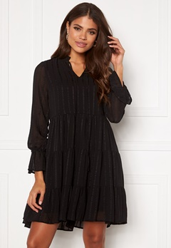 VERO MODA River L/S Short Dress Black Bubbleroom.se