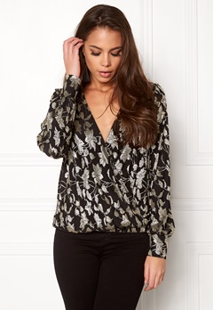 VERO MODA Romeo LS Wrap Top Black Bubbleroom.eu