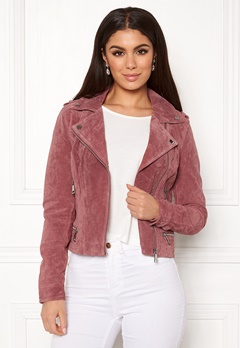 VERO MODA Royce Short Suede Jacket Old Rose Bubbleroom.se