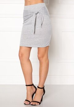 VERO MODA Sachi Tie Jersey Skirt Light Grey Melange Bubbleroom.fi