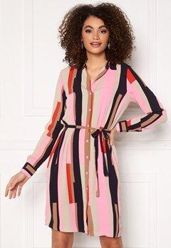 VERO MODA Saga Collar Shirt Dress Prism Pink / Matilda bubbleroom.se