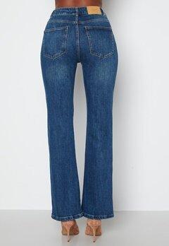 VERO MODA Saga HR S Flared Jeans Dark Blue Denim bubbleroom.se