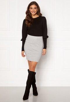 VERO MODA Sanna Knit Skirt Light Grey Melange Bubbleroom.se