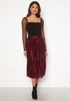 VERO MODA Seline Plisse Skirt Port Royale Bubbleroom.se