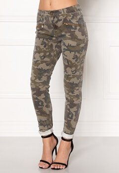VERO MODA Seven Super Slim Camo Dark Green Denim Bubbleroom.se