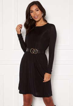 VERO MODA Sparkle L/S Dress Black lurex Bubbleroom.se