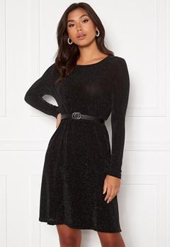 VERO MODA Sparkle L/S Dress Black silver lurex Bubbleroom.se