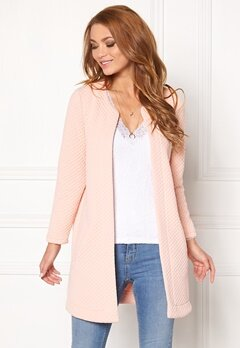 VERO MODA Struc-Peach Long Blazer Peach Whip Bubbleroom.fi