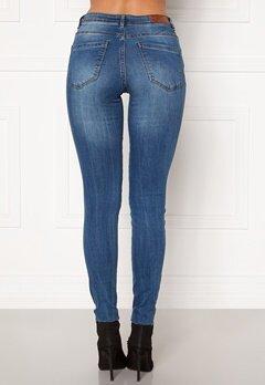 VERO MODA Tanya Piping Raw Jeans Medium Blue Denim Bubbleroom.se