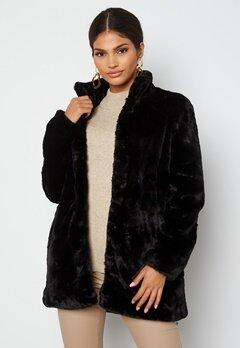 VERO MODA Thea 3/4 Faux Fur Jacket Black Bubbleroom.se