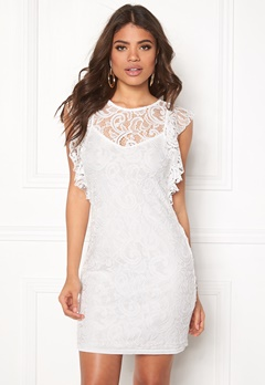 VERO MODA Thea Short Lace Dress Snow White Bubbleroom.se