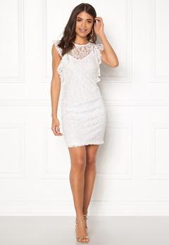 VERO MODA Thea Short Lace Dress Snow White Bubbleroom.se