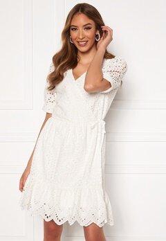 VERO MODA Therese Short Wrap Dress Snow White Bubbleroom.se