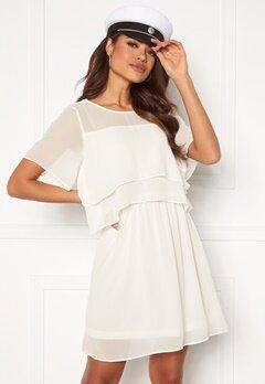 VERO MODA Vida SS Short Dress Snow White Bubbleroom.se