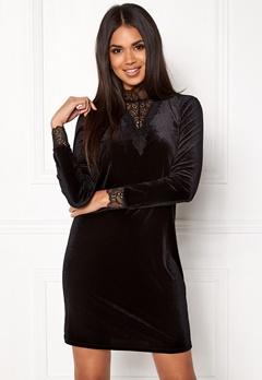 VERO MODA Viola Lace L/S Dress Black Bubbleroom.fi