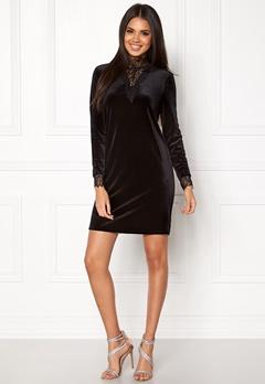 VERO MODA Viola Lace L/S Dress Black Bubbleroom.se