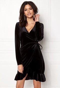 VERO MODA Viola Wrap L/S Dress Black Bubbleroom.se