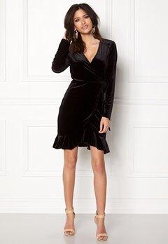 VERO MODA Viola Wrap L/S Dress Black Bubbleroom.fi