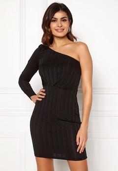 VERO MODA Wiona One Shoulder Short Dress Black Black Lurex Bubbleroom.se