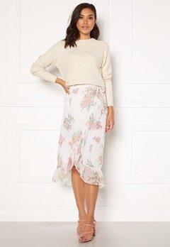 VERO MODA Wonda H/W Wrap Skirt Birch AOP Ophelia Ro Bubbleroom.se