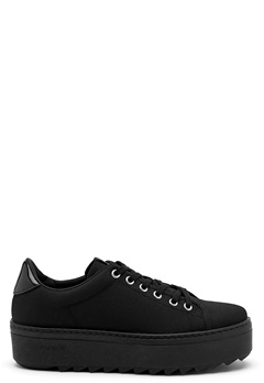 Victoria Victoria Leather Sneaker High Negro Bubbleroom.se