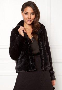 ONLY Vida Faux Fur Jacket Black Bubbleroom.se