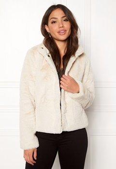 ONLY Vida Faux Fur Jacket Pumice Stone Bubbleroom.se