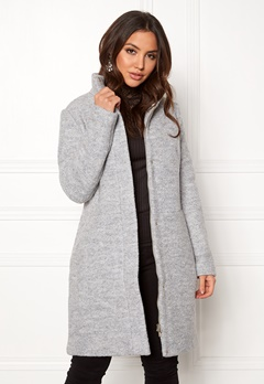 VILA Alanis Coat Light Grey Melange Bubbleroom.se