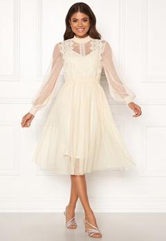 VILA Ama L/S Dress Cloud Dancer Bubbleroom.se