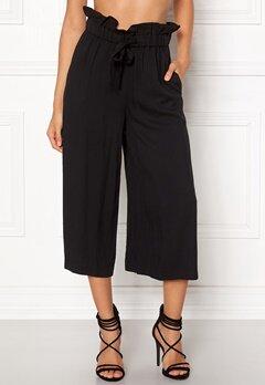 VILA Amaly HW Cropped Pants Black Bubbleroom.se