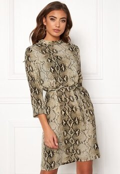 VILA Amella L/S Dress Sandshell Bubbleroom.eu