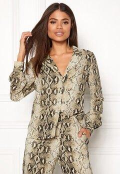 VILA Amella L/S Shirt Sandshell Bubbleroom.se