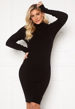 VILA Andena Knit Dress Black Bubbleroom.se