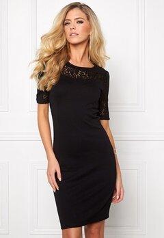 VILA Annika S/S Dress Black Bubbleroom.no