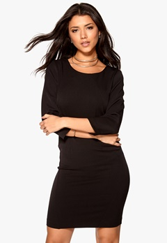 VILA Asmin 3/4 Sleeve Dress Black Bubbleroom.eu