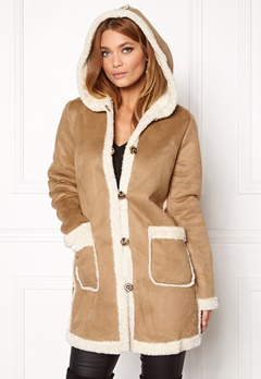 VILA Ava Coat Dusty Camel Bubbleroom.se