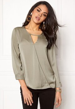 VILA Avalina l/s Top Vetiver Bubbleroom.fi