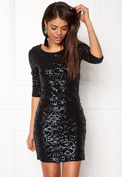 VILA Beady 3/4 Dress Black Detail Pine Bubbleroom.fi