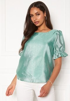 VILA Berry S/S Top Cameo Green Bubbleroom.se