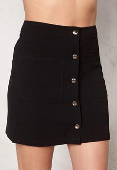 VILA Betina Skirt Black Bubbleroom.fi