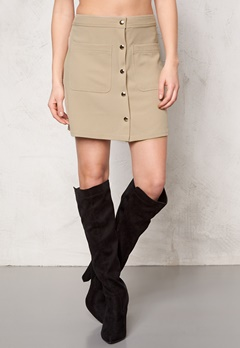 VILA Betina Skirt Soft Camel Bubbleroom.fi