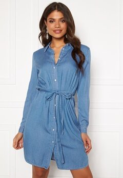 VILA Bista Denim Belt Dress Medium Blue Denim Bubbleroom.se