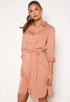 VILA Bista Denim Belt Dress Misty Rose Bubbleroom.se