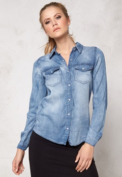 VILA Bista Denim Shirt Medium Blue Denim Bubbleroom.no