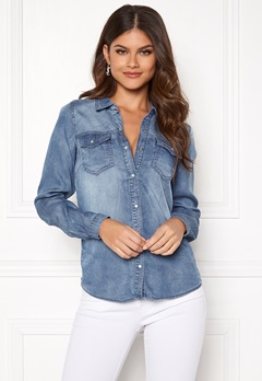 VILA Bista Denim Shirt Medium Blue Denim Bubbleroom.se