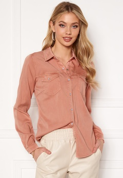 VILA Bista Denim Shirt Misty Rose Bubbleroom.se