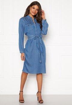 VILA Bisto L/S Dress Light Blue Denim Bubbleroom.se